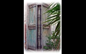 Vacker dörr i Chania.