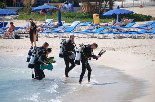 Dykare på Sandy beach