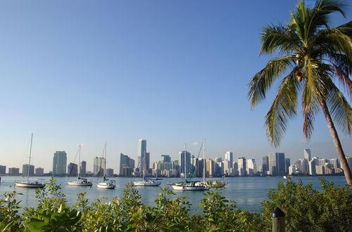 Utsikt över Miami från Virginia Key
