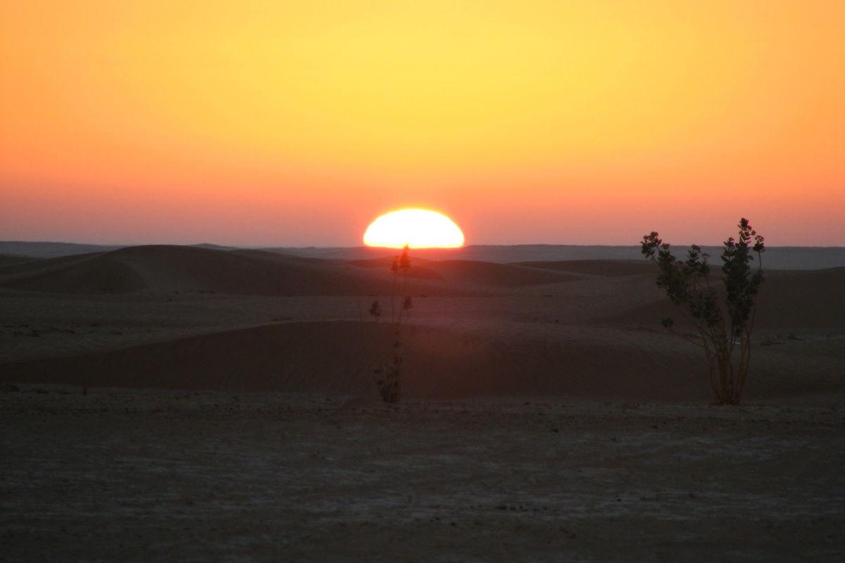 Soluppgång i öknen