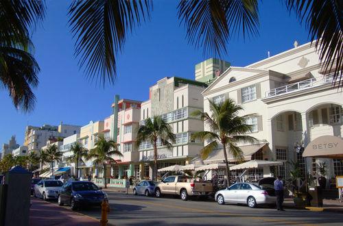 Art Deco-hus längs Ocean Drive