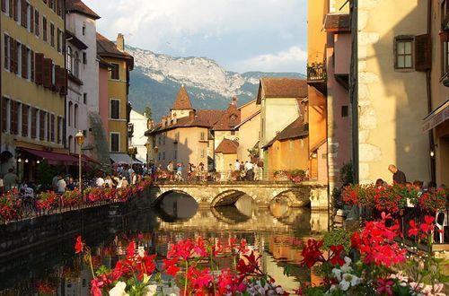Utsikt över kanalerna i Gamla stan