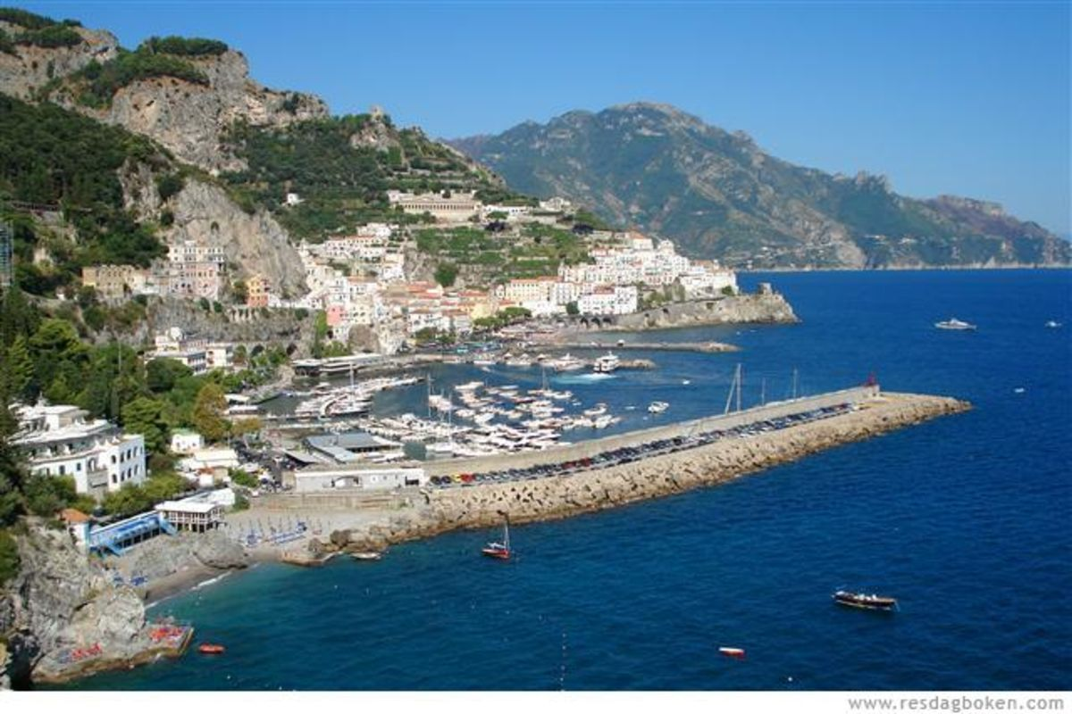 Utsikt över Amalfi