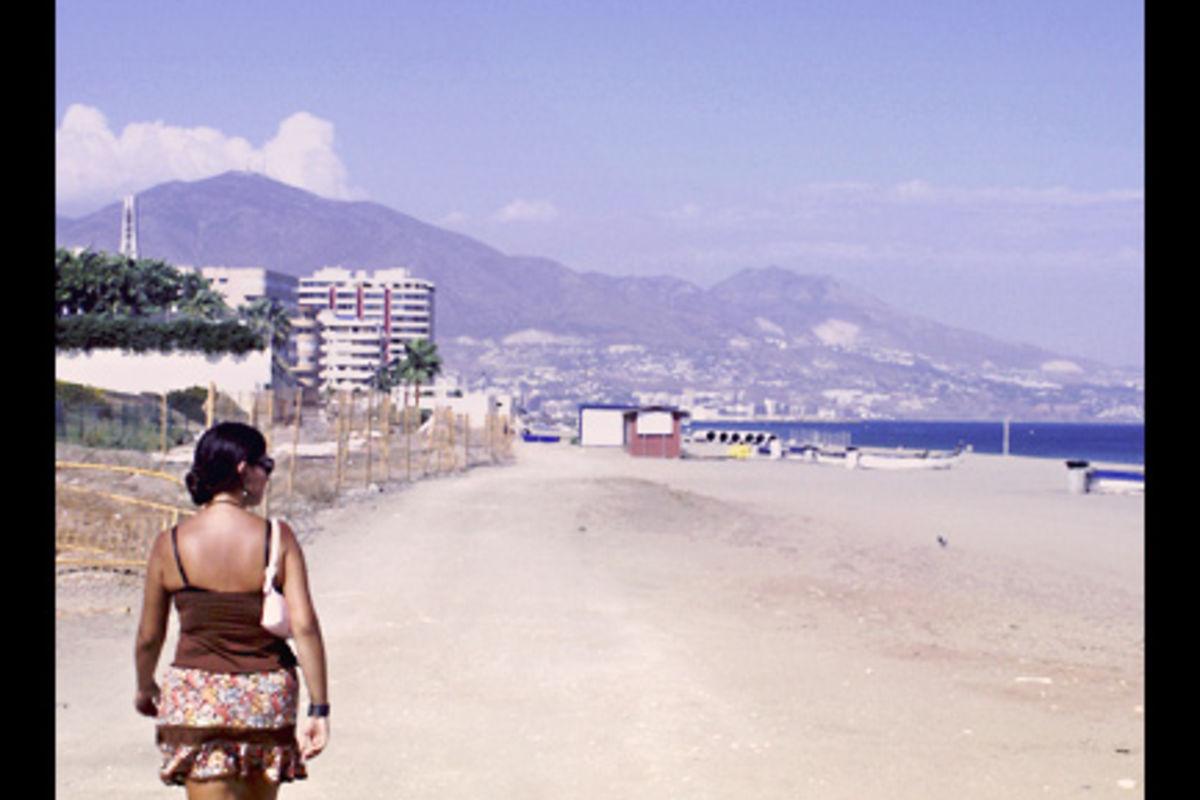 Shirin på stranden