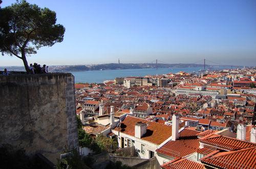 Utsikt över Baixa från Castelo São Jorge