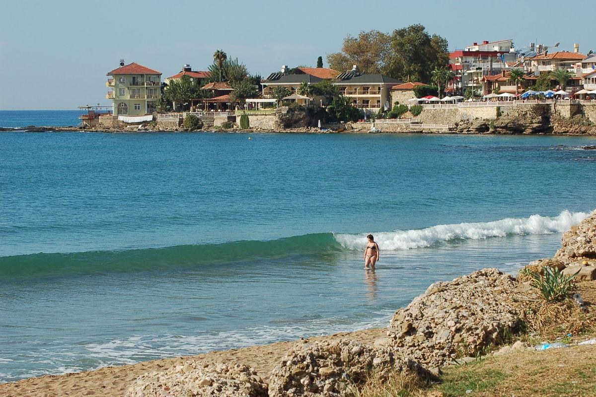 Östra stranden i Side