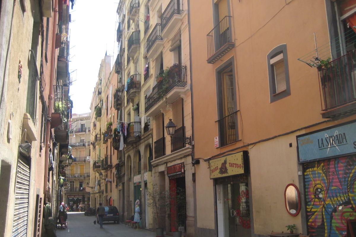 The street of vintage Riera Baixa